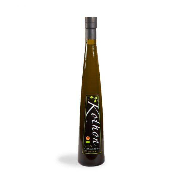 kothon, olio extravergine di oliva, belice, bottiglia olio
